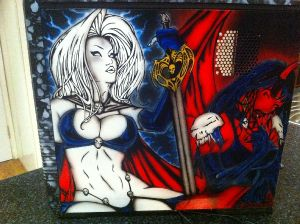 Lady Death Computer Case