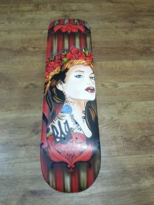 Tattooed Woman Skatedeck