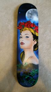 Moonlit Woman Skatedeck