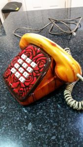 Flower and Wood Telephone